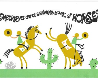 Vintage 1990's Children's Art Book - Ed Emberley's Little Drawing Book Of Horses