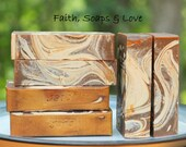 Coffee House Handmade Olive Oil Soap - Homemade Soap - Coffee - Rum - Brandy - Cocoa