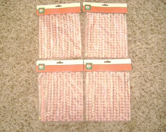 NOS 36 ft. 4 packages of iridescent pink vintage beaded Christmas garland