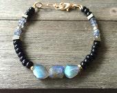 Labradorite & Obsidion Bracelet | Gemstone Bracelet | Healing Stone Bracelet