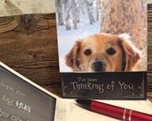 Dog Greeting Card, Golden Retriever Card, Golden Retriever Greeting, Dog Thinking of You Card, Man's Best Friend Card, Best Friend Card, Dog