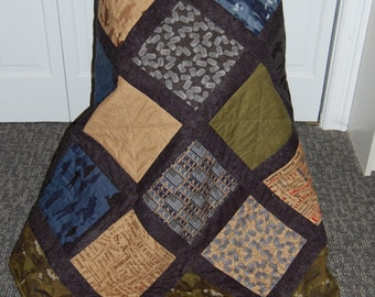 SALE, Military Quilt, Man Quilt, Because of the Brave, Veteran, Army, Marine, Navy, Airforce
