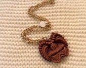 Vintage CoCo Joes Tiki Wooden Necklace