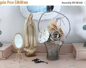 SHOP SALE Antique Woven Funeral Basket