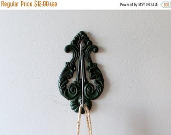RESERVED SHOP SALE Vintage Green Eastlake Receipt Hook