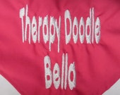 Personalized Therapy Doodle Bandana...can also do service doodle