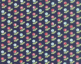 Bonnie Camille Floral Rosie Dark Blue  - 55121 16 - Bonnie Camille Vintage Picnic Navy