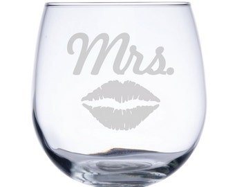 Stemless Red Wine Glass-17 oz.-7755 MRS LIPS