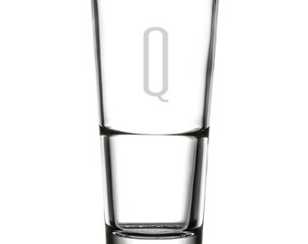 Drinking Glass - 16 oz. - 10518 Monogram Thin