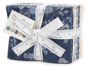 Fat Quarter Bundle - BLUE BARN PRINTS by Laundry Basket Quilts  -  Free Spirit Fabric - 21 FQs
