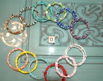 WHOLESALE LOT O OF 12 Double Loop Bracelet - Proceeds Benefit Cancer Research