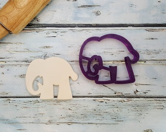 Elephant #3 Cookie Cutter and Fondant Cutter and Clay Cutter