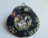 Handmade Coin Purse - Little Bunny in the dark Forest