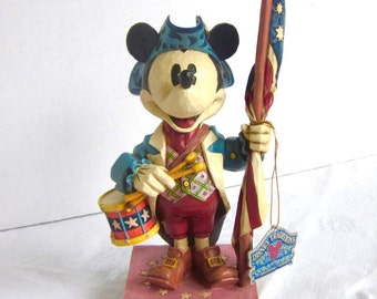 Mickey Mouse Jim Shore Disney Showcase The ULTIMATE PATRIOT Liberty Enesco NIB Patriotic
