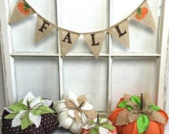 Fall burlap banner, MINI Fall banner, Burlap Fall Banner, Fall Decorations, Fall Decor, Fall Bunting, Mini Fall Garland, Burlap Fall Decor