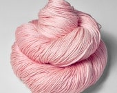 Withering pink cherry blossom - Merino/Silk Fingering Yarn Superwash