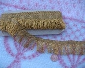 Vintage Fringe Trim, 3.5 yards, Seamstress Delight, Gold