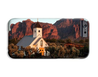 Phone Case, Superstition Mountains Church, Arizona, fine art image