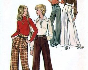 Simplicity 5861 Vintage 70s Sewing Pattern for Misses' Pants - Uncut - Size 12 - Waist 26.5
