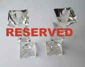 RESERVED 3rd PAYMENT of THREE Pair Elegant French Art Deco Crystal Candlesticks Matched Pair