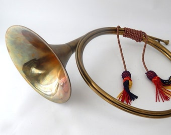 French Vintage Hunting Horn in Brass