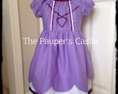 Girls/Child's/Toddler Casual Cotton Pull Over Disney Princess Sofia the First Dress / Costume