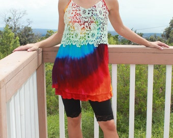 Tie Dye Heartsoul Short Dress,  upcycled