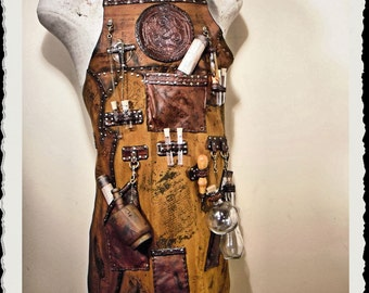 Leather Apron - Alchemist - Steampunk -