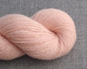Reclaimed Cashmere Yarn, Heavy Lace Weight, Blush Pink, 430 Yards, Lot 030916