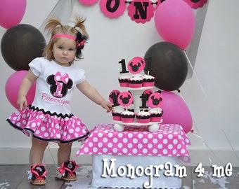 Minnie Mouse Ruffled Pink Birthday Dress - Disney - 1st Birthday - 2nd Birthday - 3rd Birthday