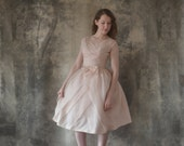 Ethereal 1950s Pink Party Dress size XS