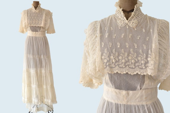 Edwardian Net Lace Dress size S