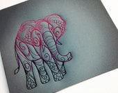 Elephant embroidered mousepad