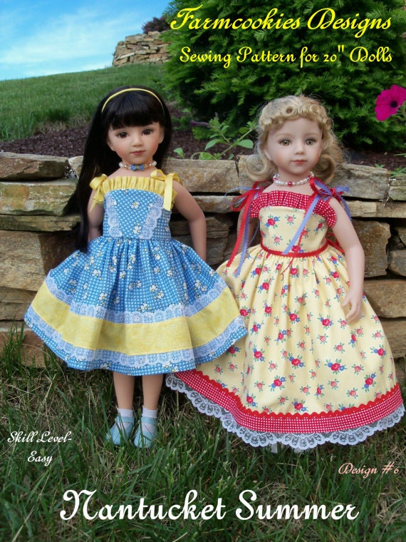 "PRINTED Sewing Pattern / NANTUCKET SUMMER for 20"" Maru & Friends  or 18"" American Girl Dolls"
