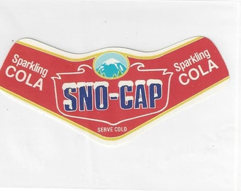 Sno-Cap Sparkling Cola Vintage Soda Label, 1950s