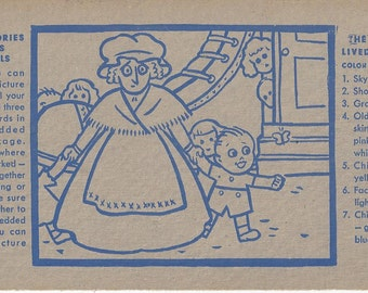 Vintage Shredded Wheat Insert of Picture Story Album:  The Old Lady Lived in a Shoe, 1936
