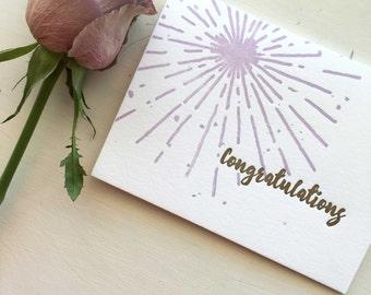Congratulations Cards Letterpress Congratulations Card
