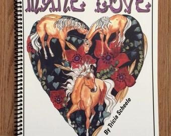 Valentine Horse coloring book