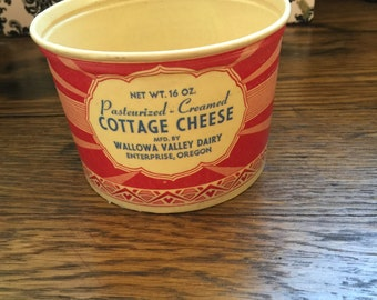 Wallowa Valley Dairy Cottage Cheese Container