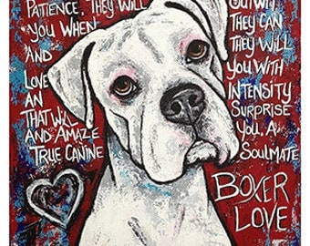 Boxer Love Print 16x20