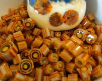 Murrini Chips, Wheat Field, Lampwork Supplies, COE 104, 20 Chips, Yellow Murrini, Emerald City Glass, Murrini Pieces, Flamework Supplies