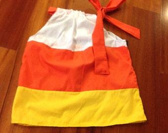 Boutique Girls Candy Corn Pillowcase Dress size 2T SAMPLE SALE