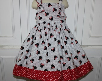 Minnie Mouse Girls Boutique Knot Dress Size 2T 3T 4T 5 6 NEW
