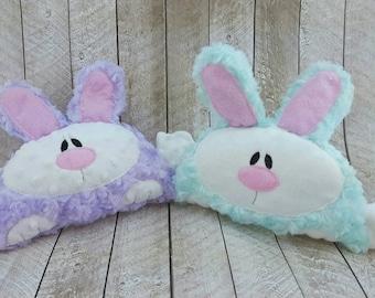 Soft plush cuddly bunny rabbit stuffed animal plushie Personalized Fabric