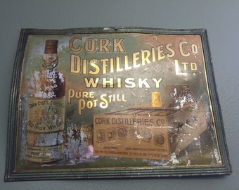 1920s Pre-Prohibition Cork Distilleries Co Whisky Sign
