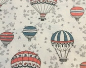 Hot Air Balloons - Cotton FLANNEL Fabric BTY