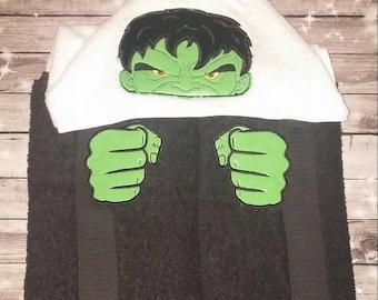Hulk Hooded Towel