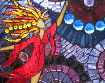 Lightning Goddess - Mosaic suncatcher window-art