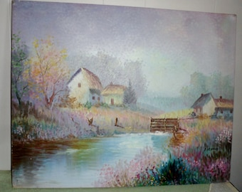 Impressionist Landscape oil on canvas Painting by P. ARNOUX listed artist