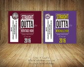 DIY Printable Grad Candy Bar Wrapper/Straight Outta/Graduation Announcement
